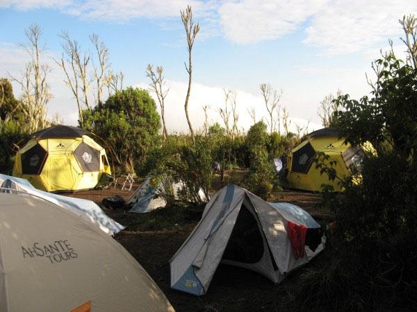 Лагерь на высоте 3000 метров / Фото из Танзании