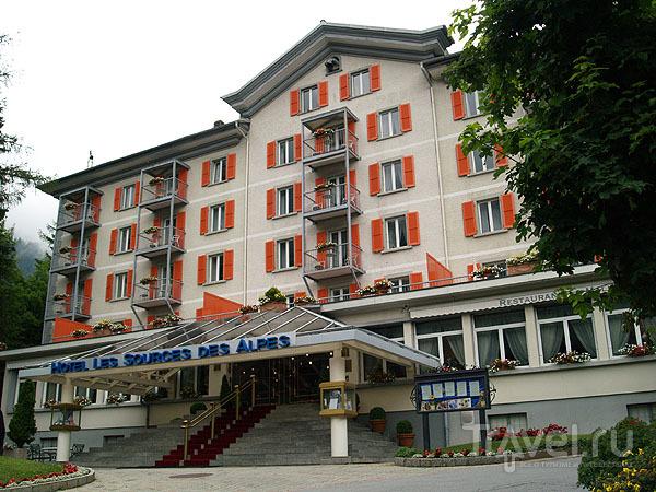 Самый дорогой отель Лойкербада / Фото из Швейцарии