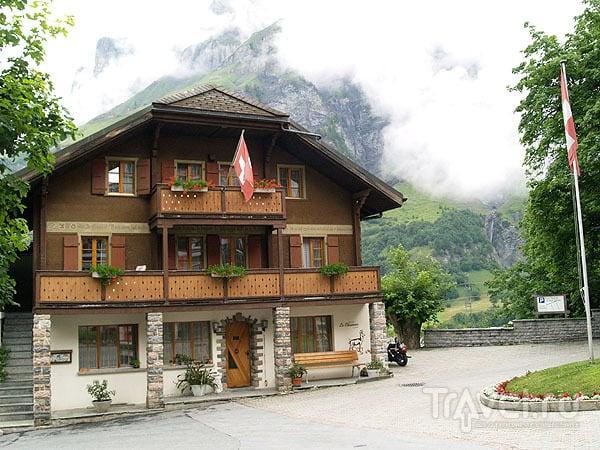 Самый дешевый отель Лойкербада / Фото из Швейцарии