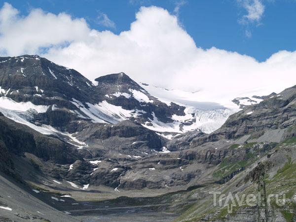 Ледник на вершине Гемми / Фото из Швейцарии