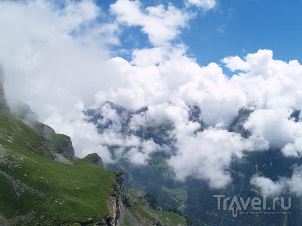 Облака можно потрогать руками / Фото из Швейцарии