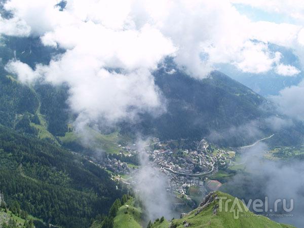 Облака над Лойкербадом / Фото из Швейцарии