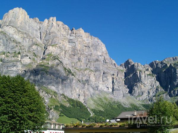 Гора Гемми в солнечый день / Фото из Швейцарии