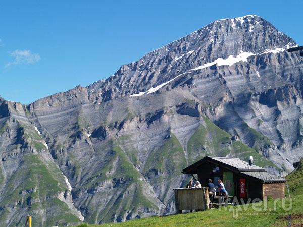 Причудливые горы вокруг Лойкербада / Фото из Швейцарии