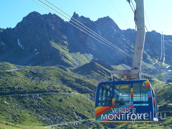 Телекабина на Монт-Форт / Фото из Швейцарии