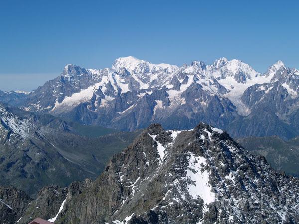 Вид на Монблан / Фото из Швейцарии