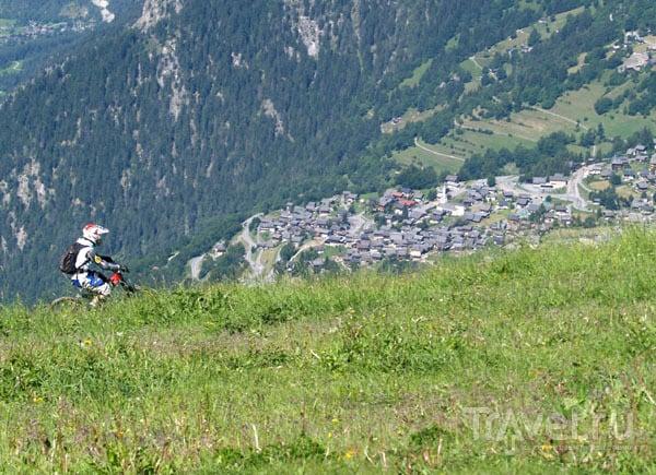 Прогулка на горном велосипеде / Фото из Швейцарии
