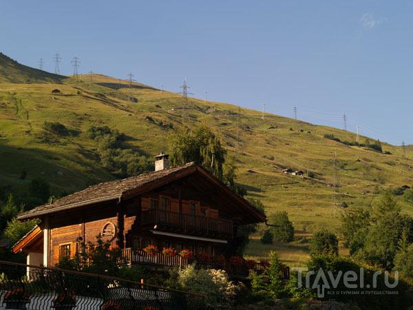 Вербье на закате / Фото из Швейцарии