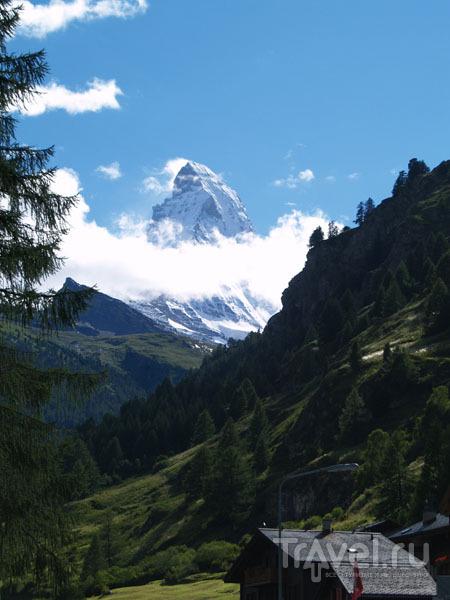 Маттерхорн показался из-за облаков / Фото из Швейцарии