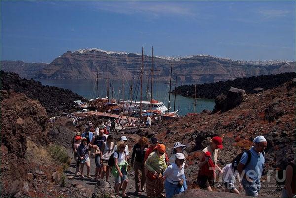 Десант на вулкан / Фото из Греции