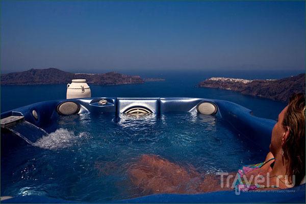 Джакузи с видом на море / Фото из Греции