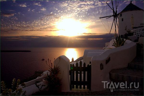 Закат в Ие / Фото из Греции