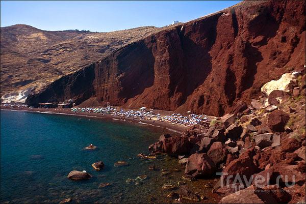 Красный пляж Акротири / Фото из Греции