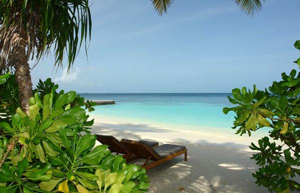 Вид из бунгало на Индийский океан / Фото с Мальдив