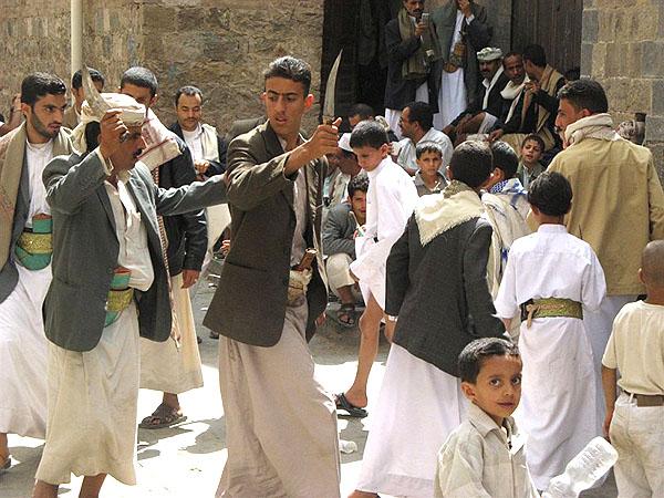 Народные гуляния в старой Сане / Фото из Йемена