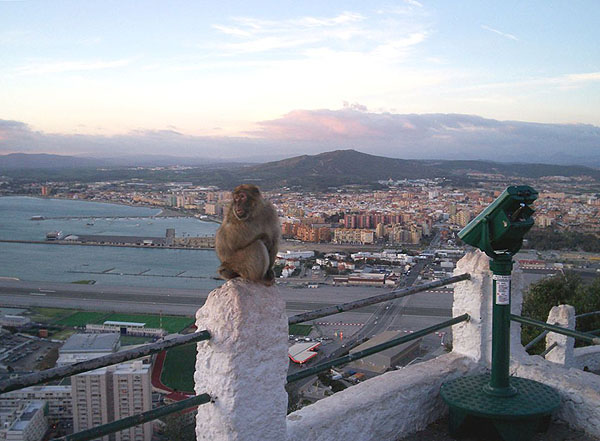 Вид на Ла-Линеа и аэропорт Гибралтара / Фото из Марокко