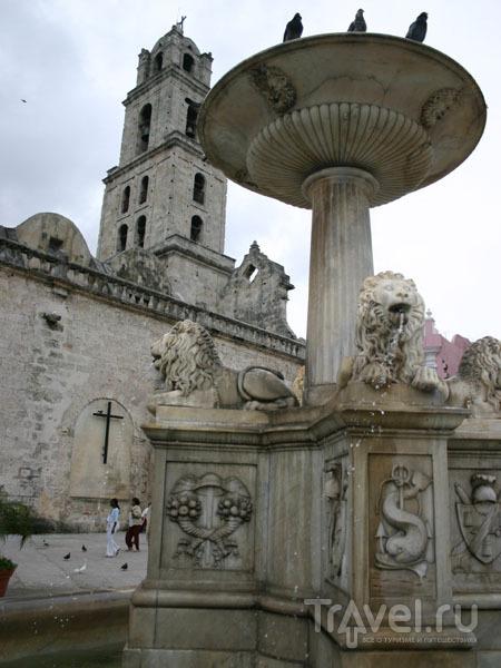 Фонтан львов на площади Сан-Франсиско-де-Асис / Фото с Кубы