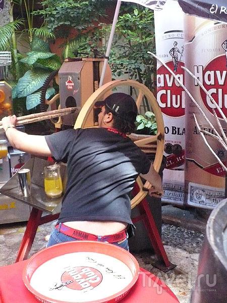 Отжим сахарного тростника / Фото с Кубы