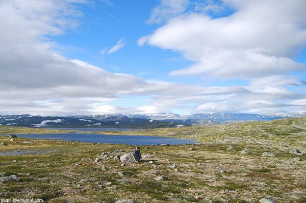 Высоко в горах Норвегии / Фото из Норвегии