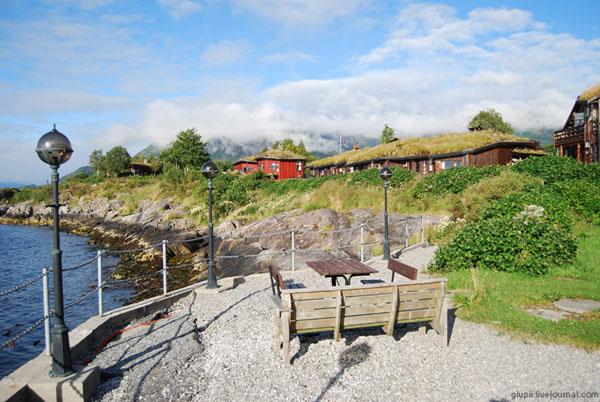Живописные берега фьорда  / Фото из Норвегии