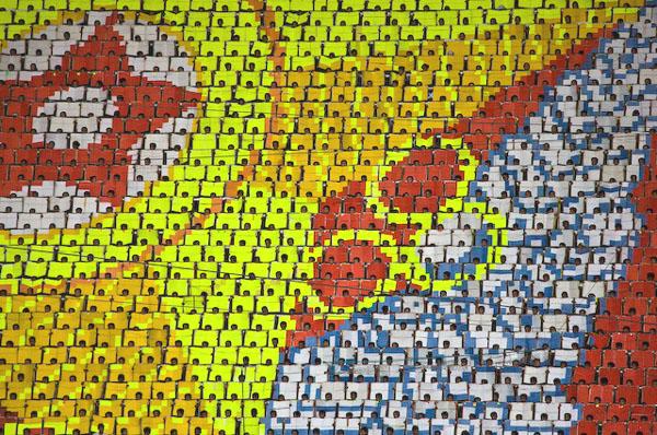 """""""Живое"""" панно из 20 000 человек / Фото из Северной Кореи"""