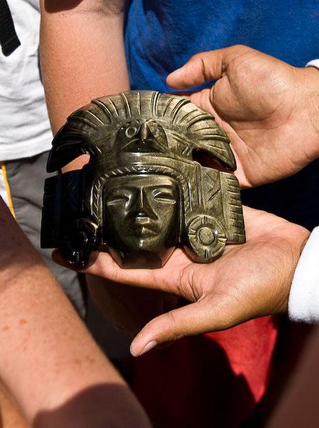 """""""Золотая"""" маска майя / Фото из Мексики"""