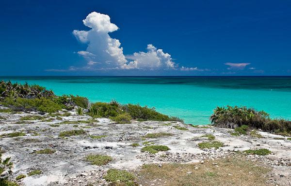 Лазурные воды Карибского моря у побережья Мексики / Фото из Мексики