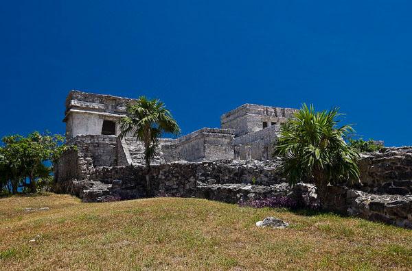 Постройки цивилизации майя в Тулуме, Мексика / Фото из Мексики