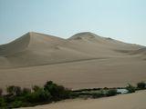 край оазиса, переходящий в пустыню / Перу