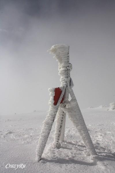 Геодезический знак на Южной вершине горы Арагац / Фото из Армении