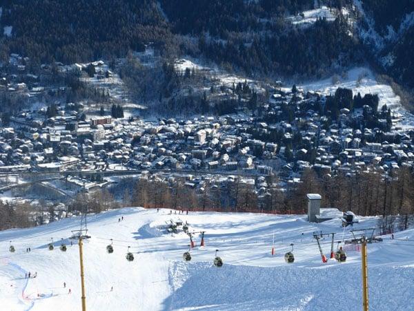 Вид на Курмайор со склона  / Фото из Италии
