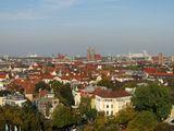 красные крыши Мюнхена / Германия