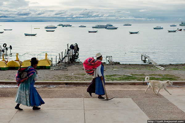 На берегу озера Титикака, Боливия / Фото из Боливии