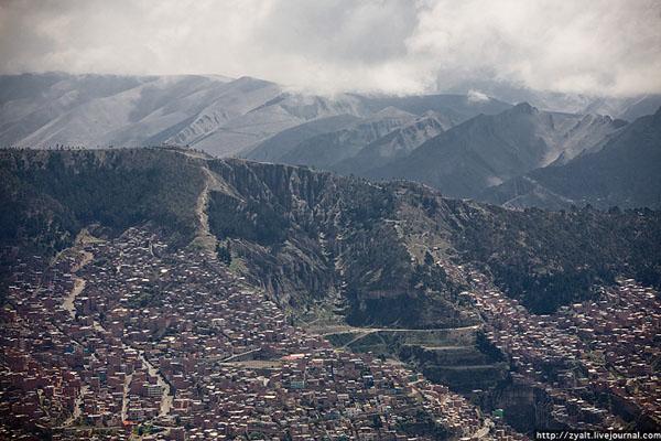 Ла-Пас - фактическая столица Боливии / Фото из Боливии