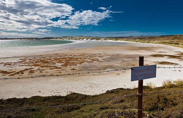 На Фолклендских островах и сегодня есть заминированные территории / Фото с Фолклендских островов