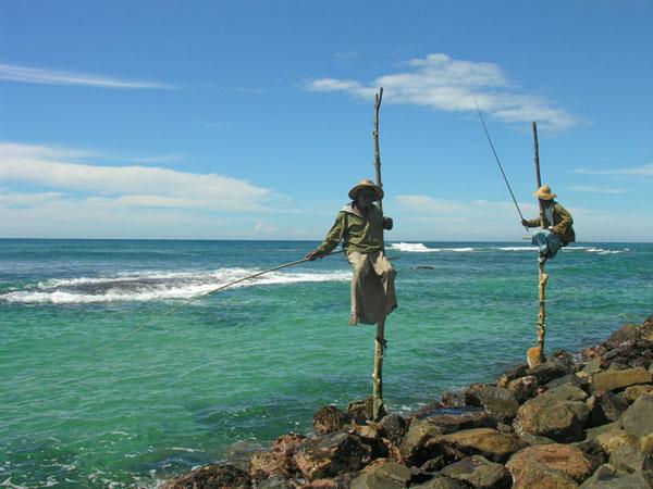 Рыбаки Шри-Ланки / Фото со Шри-Ланки