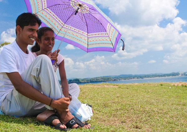Влюбленные в старом форте Галле, Шри-Ланка / Фото со Шри-Ланки