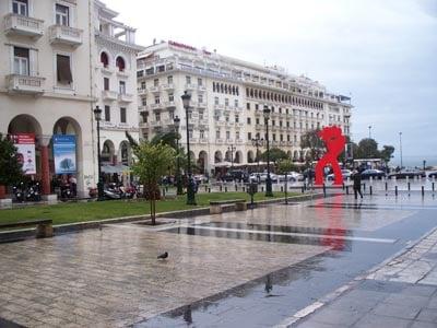 Салоники, городская улица / Греция