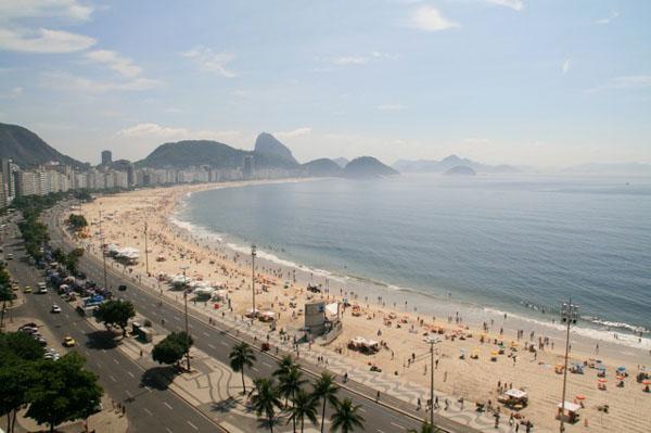 Утренний пляж Копакабана, Рио-де-Жанейро / Фото из Бразилии