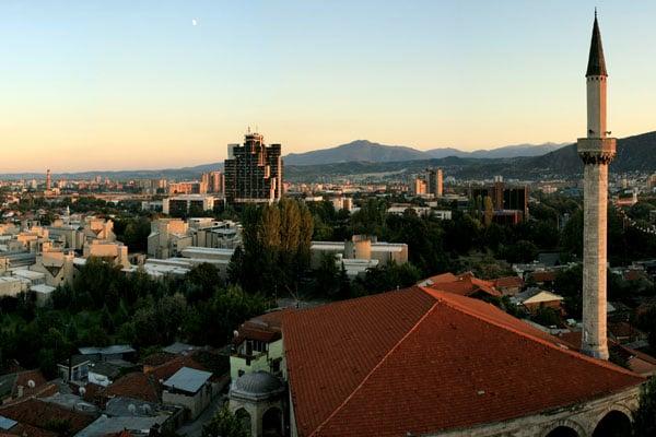 Панорама города Скопье с часовой башни / Фото из Македонии
