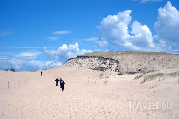 Подъем на дюну Агилос  / Фото из Литвы