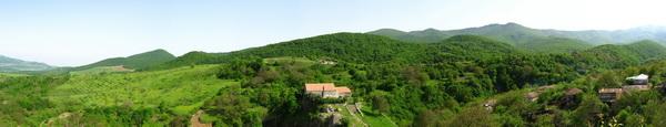 Панорама деревни / Азербайджан