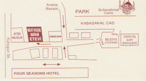 Расположение Meat House / Турция