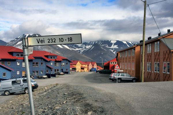 Улицы Лонгира - столицы архипелага Шпицберген / Фото со Шпицбергена