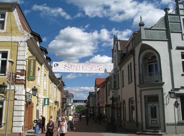 Центральная улица курорта Пярну / Фото из Эстонии