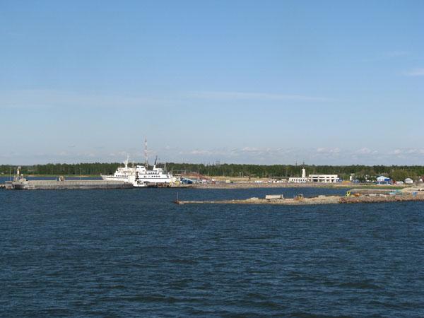 Пристань Виртсу, с которой паромы отправляются на остров Сааремаа / Фото из Эстонии