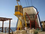 Спуск по канатной дороге / Израиль