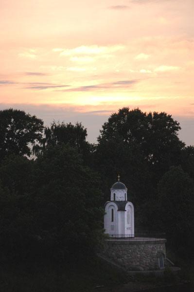 Ольгинская часовня на берегу реки Великой, Псков / Фото из Латвии