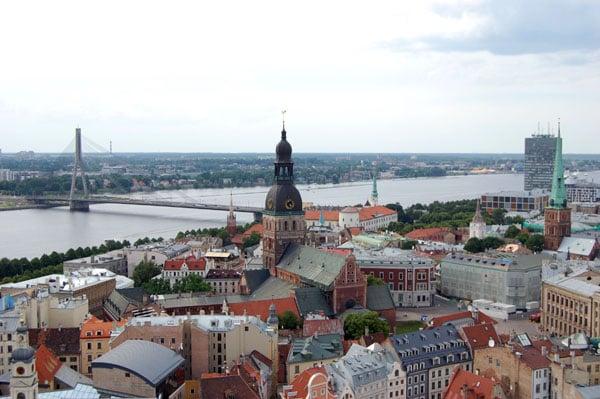 Панорама Риги с башни собора Святого Петра / Фото из Латвии