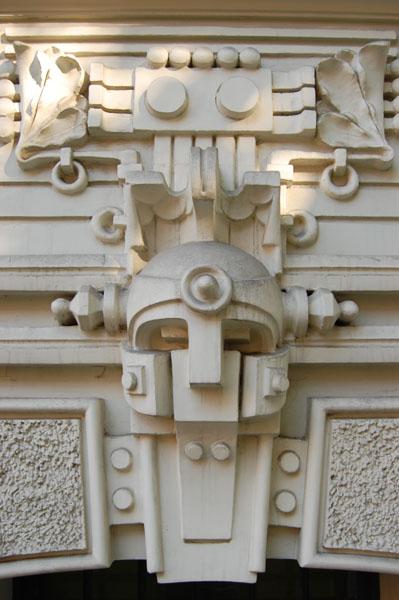 Деталь здания в югендстиле, Рига / Фото из Латвии